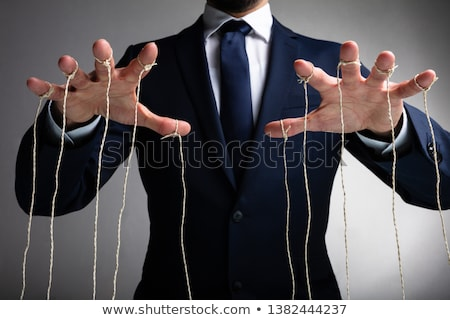 Marionnette hommes comme affaires homme cartoon Photo stock © tiKkraf69