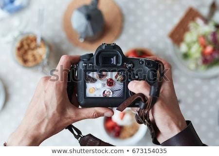 fotograf · shot · młodych · Fotografia · kamery - zdjęcia stock © deandrobot