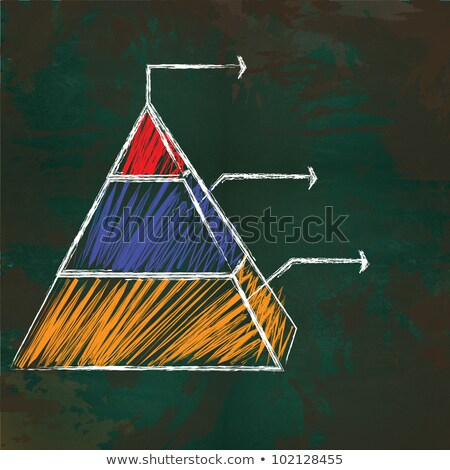 blackboard and pyramid Stock photo © lubavnel