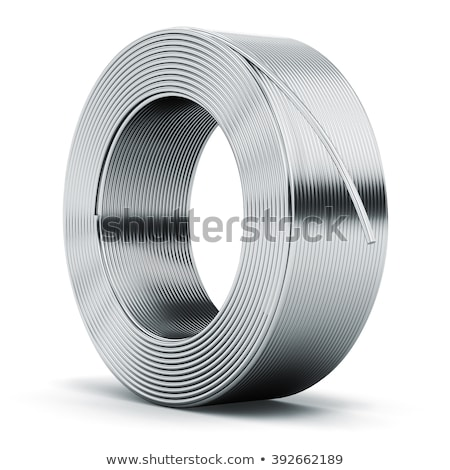 Steel wire coil isolated on white background. Stock photo © Leonardi