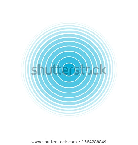 Abstract blue concentric ripples Stock photo © ptichka