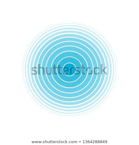 Soyut mavi ortak merkezli doku arka plan dalga Stok fotoğraf © ptichka