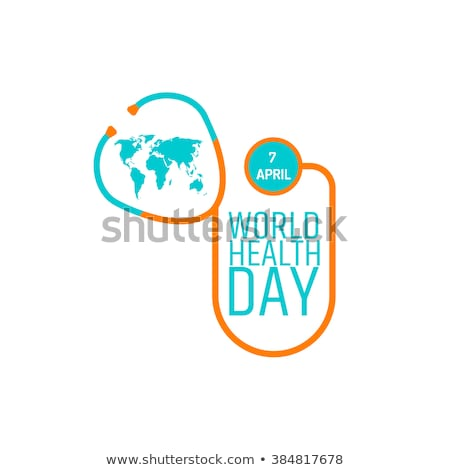 Stock photo: 7 April World Health Day. Text for greeting card