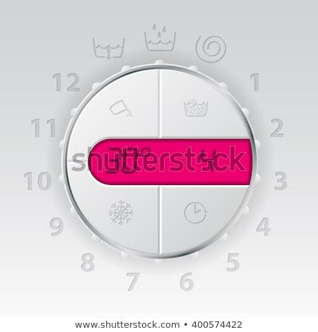 Wash machine control panel with pink lcd  Stock photo © vipervxw