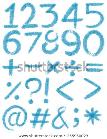 Pourcentage nombre rouge blanche illustration fond Photo stock © make