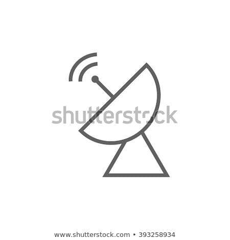 Radar parabolaantenna vonal ikon sarkok háló Stock fotó © RAStudio