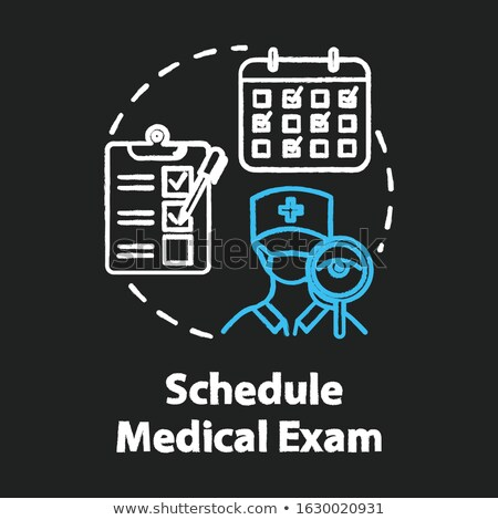 Medical report. Drawn in chalk icon. Stock photo © RAStudio