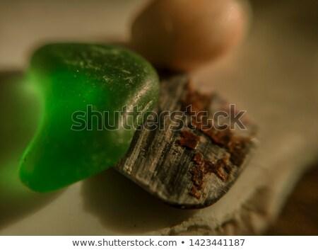 Pequeno verde peças vidro polido mar Foto stock © marylooo