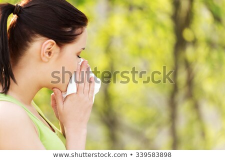 Lány allergia virágpor illusztráció orvosi gyermek Stock fotó © bluering