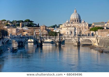 Watykan St Peters Basilica watykan widoku budynku anioł Zdjęcia stock © photocreo