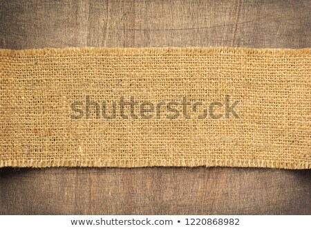 Burlap hessian sacking on wooden background Stock photo © stevanovicigor