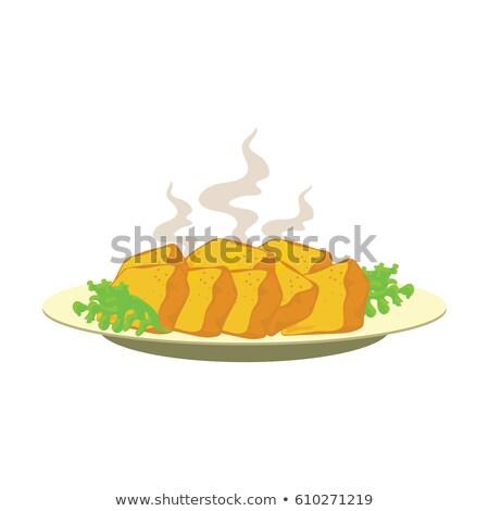 kínai · étel · gomba · tányér · szakács · sárgarépa · étel - stock fotó © tab62