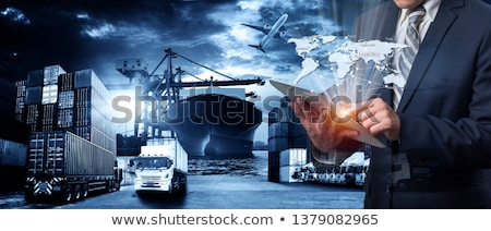 szállítás · kikötő · lövés · hajó · üzlet · víz - stock fotó © lightsource