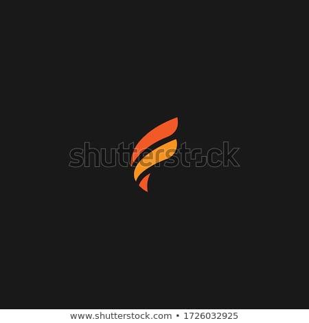 fogo · redemoinho · letra · f · isolado · preto · computador - foto stock © ggs