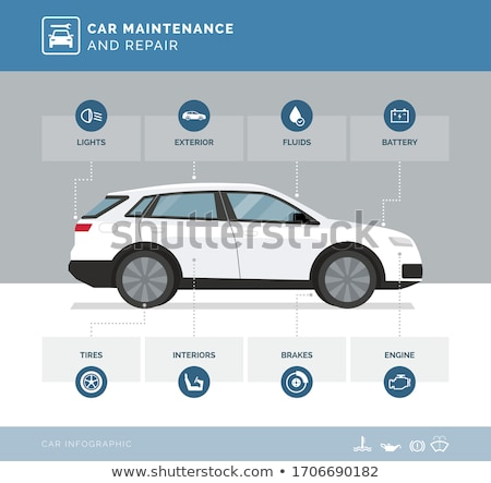Infographics of the vehicles Stock photo © bluering