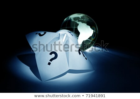Globe and Paper Fortune Teller Stock photo © devon