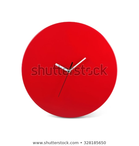 modern red clocks isolated on white stock photo © cidepix