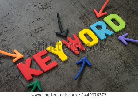 Palavra chave negócio cara laptop teclado corporativo Foto stock © zurijeta
