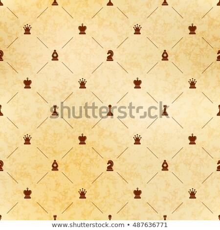 ブラウン チェス アイコン 古い紙 テクスチャ ロイヤル ストックフォト © Evgeny89