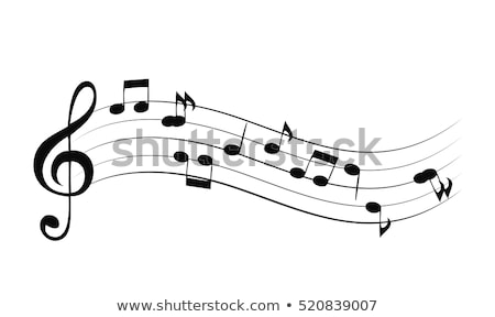 Stock photo: vintage music notes