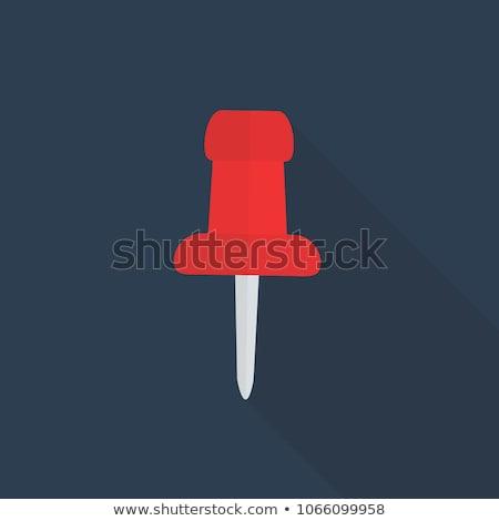 vector push pin icon long shadow stock photo © blumer1979