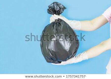 zwarte · onzin · zak · prullenbak · illustratie · achtergrond - stockfoto © bluering