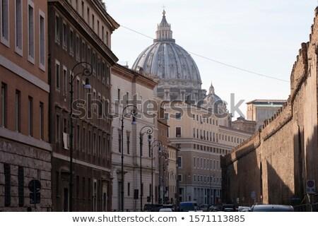 Régi építészet tipikus kupola Vatikán égbolt épület Stock fotó © meinzahn