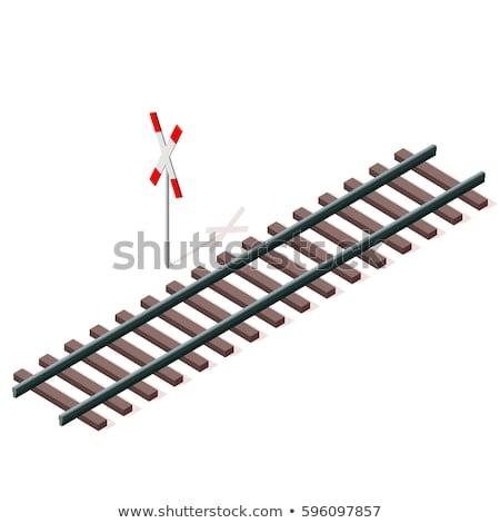 Steel rails in isometric, vector illustration. Stock photo © kup1984
