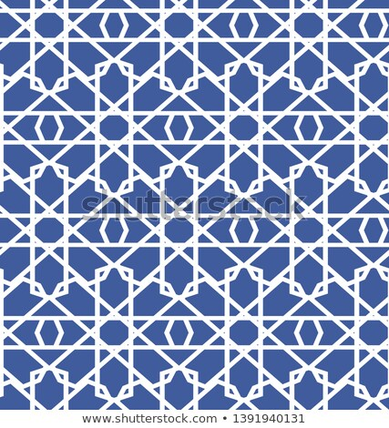 colorful mosaic design   mosque black silhouette blue color stock photo © kkunz2010