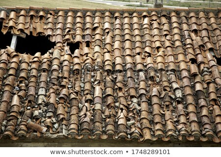 Old demolished tiled roof Stock photo © simply