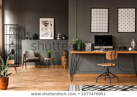 Modern ev ofis iç masaüstü yazıcı iş Stok fotoğraf © MarySan