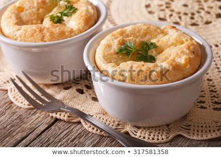 Yellow souffle dish Stock photo © Digifoodstock