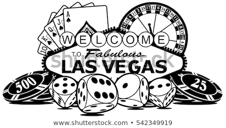 Welcome sign with roulette wheel Stock photo © day908