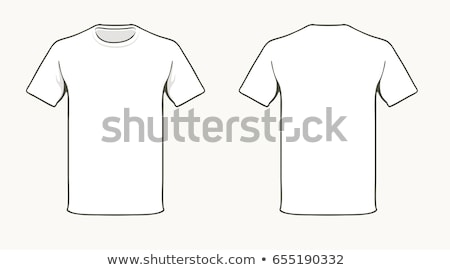Unisex t-shirt template. Front and back illustration Stock photo © kayros