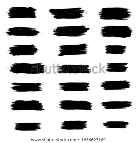 Nero inchiostro splatter rete linee Foto d'archivio © SArts