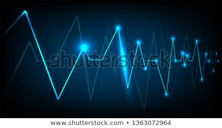 Corazón pulso azul pulsante ritmo gráfico Foto stock © alexaldo