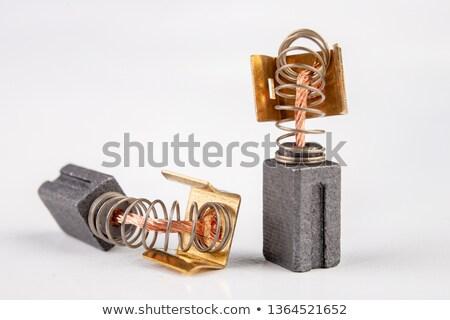 Koolstof borstel ingesteld auto achtergrond metaal Stockfoto © clarion450