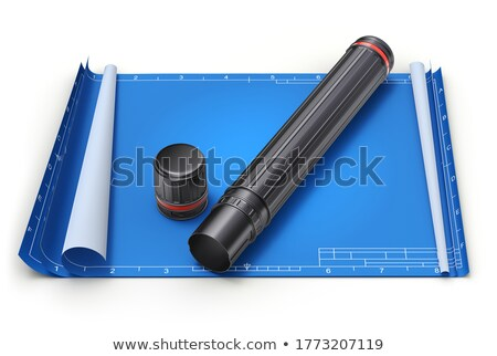 建築の · プロジェクト · 青写真 · 青写真 · 計画 - ストックフォト © dfrsce