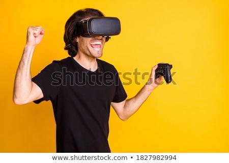 楽しい 勝者 男 着用 バーチャル 現実 ストックフォト © deandrobot