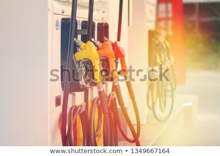 benzinpumpa · benzinkút · három · autó · zöld · utazás - stock fotó © oleksandro