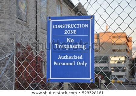 No pass warning sign on construction site Stock photo © stevanovicigor