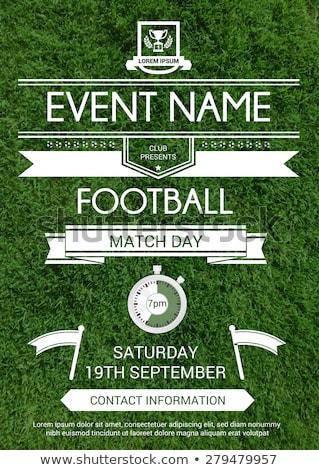 football game event tournament invitation design template Stock photo © SArts