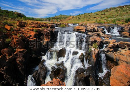 waterfall at the bourkes potholes in south africa Stock photo © compuinfoto