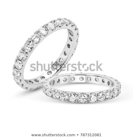 diamanten · ring · zwarte · mode · steen · geschenk · ring - stockfoto © grafvision