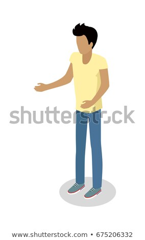 Man in Casual Cloth with Stretched Hand Make Order Stock photo © robuart