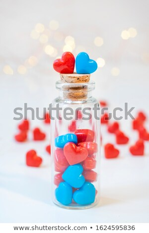 Blue and pink heart symbol of love. Heterosexual couple sign Stock photo © orensila