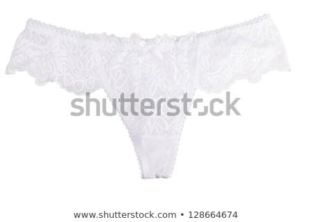 Elegante encaje bragas azul aislado blanco Foto stock © sapegina