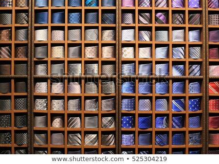 Large selection of ties in men's clothing store Stock photo © deandrobot