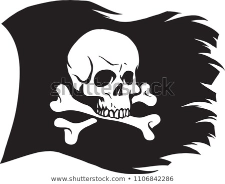 Pirate flag skull and crossbones. piratical black banner isolate Stock photo © popaukropa