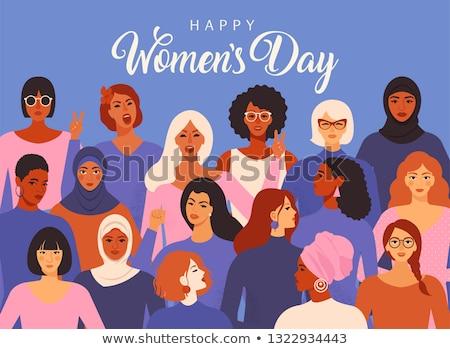 Acht geïsoleerd ontwerp stijl vrouwen Stockfoto © user_11397493